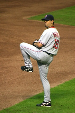 Beckett during his tenure with the Boston Red Sox in 2008