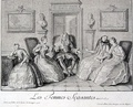 Les Femmes savantes, 1726 [Design by Coypel; engraving by Joullain]