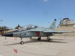 A M-346 of Israeli Air Force on display