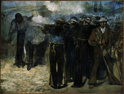 The Execution of Emperor Maximilian, 1867. Museum of Fine Arts, Boston. The least finished of three large canvases devoted to the execution of Maximilian I of Mexico.