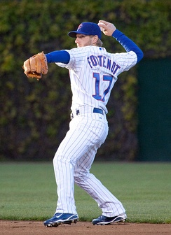 Fontenot playing for the Chicago Cubs in 2010.