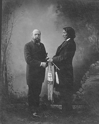Marsh and Lakota Chief Red Cloud in New Haven, Connecticut, c. 1880