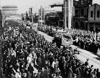 The People's Liberation Army enters Beijing in the Pingjin Campaign