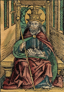 Saint Peter portrayed as a Pope in the Nuremberg Chronicle