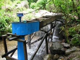 A pico hydro system made by the Sustainable Vision project from Baylor University[1]