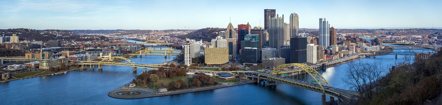 Panorama of Pittsburgh, PA