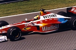 Schumacher driving for Williams in the 1999 Canadian Grand Prix
