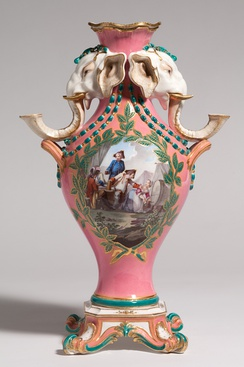 Elephant vase with candleholders, c. 1760