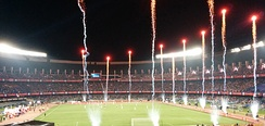 Salt Lake Stadium during Indian Super League opening ceremony