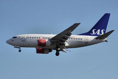 SAS received the first 737-600 in September 1998