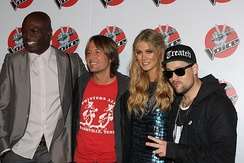 Coaches (series 1): Seal, Keith Urban, Delta Goodrem, and Joel Madden.
