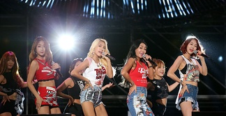 Sistar at The 70th Independence Day of Republic of Korea, August 14, 2015. Left to right: Soyou, Bora, Hyolyn and Dasom