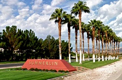 The entrance to Summerlin, an affluent planned community