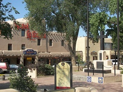 Plaza la Fonda in Taos