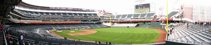 Panorama of Target Field, taken from the concourse inside Gate 29.