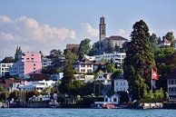 Thalwil seen from Lake Zurich