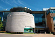 Chemistry & Physics building with planetarium at The University of Texas at Arlington