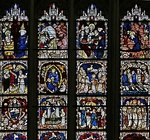 "York Minster, detail from the Great East Window, ""Apocalypse"" (1405-1408)"