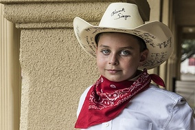 Young cowboy in Fort Worth, Texas