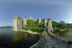 Golubac Fortress in Serbia, guarding the Danubian frontier of the Balkans