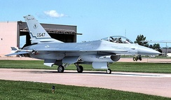 136th FIS General Dynamics F-16A Block 15 ADF Fighting Falcon 80-0547.jpg, about 1992