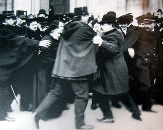 1904 Demonstration at the Notre Dame des Champs church in Paris