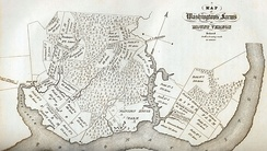 A map of the Mount Vernon plantation and lands