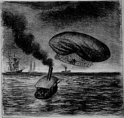 Santos Dumont's accident on February 14, 1902 with the Nº 6.