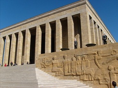 Anıtkabir, the mausoleum of Mustafa Kemal Atatürk in Ankara, is visited by large crowds every year during national holidays such as Republic Day on 29 October.