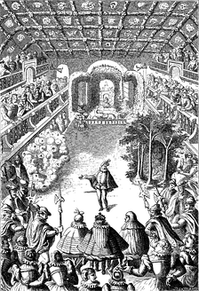 The Ballet Comique de la Reine, from an engraving of 1582 by Jacques Patin