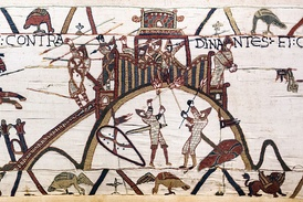 Siege of a motte-and-bailey castle from the Bayeux Tapestry