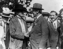 Tillman (center left) with Woodrow Wilson