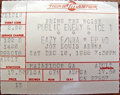 "Ice-T headlined Public Enemy's 1988 ""Bring the Noise"" concert tour."