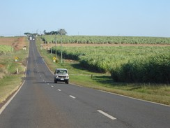 Sugar cane fields south of Childers. Queensland's climate is ideal for growing the crop.