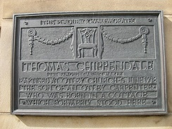 Thomas Chippendale was born in a cottage which formerly stood here