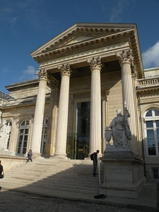 The portico of the ceremonial entrance of the Palais