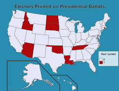 The electors themselves are named on the presidential ballots of only eight states.[12]