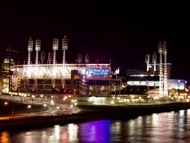 Great American Ball Park at night