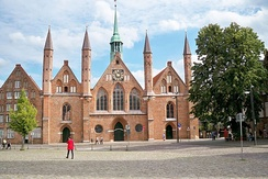 The Hospice of the Holy Spirit in Lübeck, established in 1286, is a precursor to modern hospitals.[247]