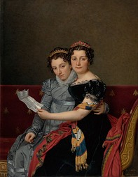 Jacques-Louis David, The Sisters Zénaïde and Charlotte Bonaparte, 1821