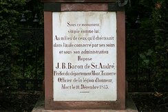 Tombstone of Jeanbon Baron de St. André, Prefect of Napoleonic Mainz
