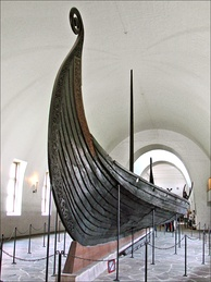 The Oseberg ship at the Viking Ship Museum in Oslo, Norway