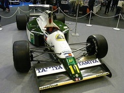 The Lotus 102B as used in the 1991 F1 season.