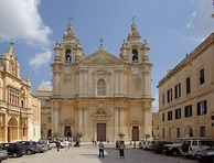 St. Paul's Cathedral, Mdina built in the Baroque style