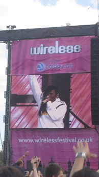 Missy Elliott performing at the Wireless Festival 2010