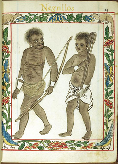 Negritos in the Philippines, 1595.