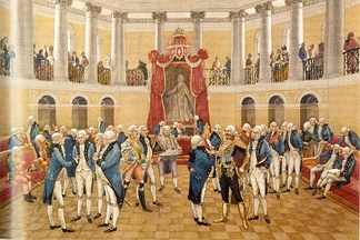 An assembly of nobility at the time of Catherine the Great (reigned 1762–1796)