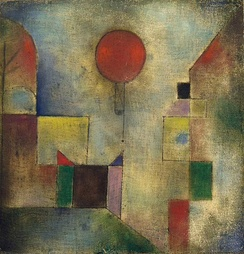 Red Balloon, 1922, oil on muslin primed with chalk, 31.8 x 31.1 cm. The Solomon R. Guggenheim Museum, New York