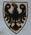 Přemyslid dynasty (Duchy of Bohemia)Right: The earliest known colored coat of arms of Přemyslids depicted in the Passional of Abbes Kunigunde (1310s)