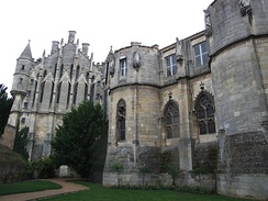 Palace of Poitiers, the seat of the counts of Poitou and dukes of Aquitaine in the 10th through 12th centuries, where Eleanor's highly literate and artistic court-inspired tales of Courts of Love.
